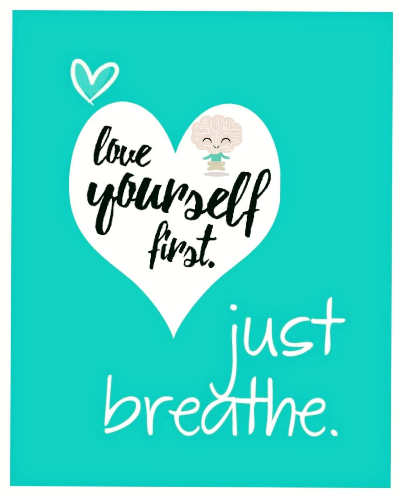 I focus on breathing and grounding myself